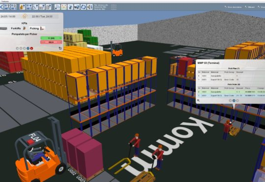 COVID-19 Social Distancing and Operator Contact Tracing in Warehouse and Production environments